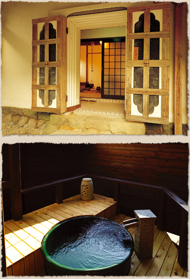 Special guest room where a fireproof building(included Irori and open-air bath)